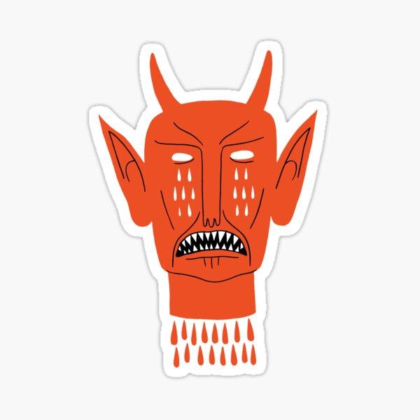 Devil's Head Sticker