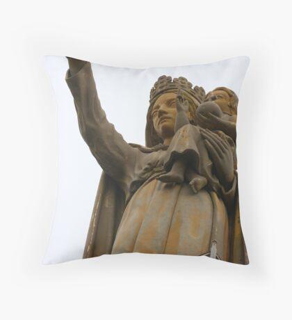 Statue de la Vierge Poitiers Throw Pillow