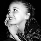 Alyssa's Smile (B&W) by Tara Johnson
