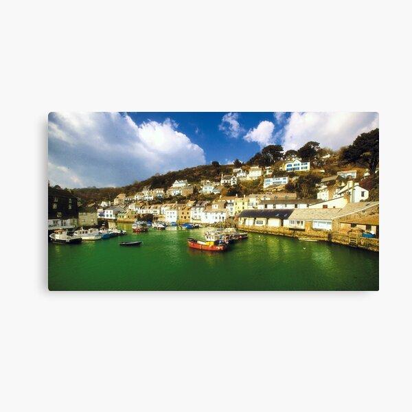 Framed Print Cornwall Polperro Travel Poster Boat Sea Ocean British Coast