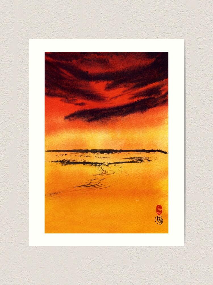 Alternate view of Desert Heat Art Print