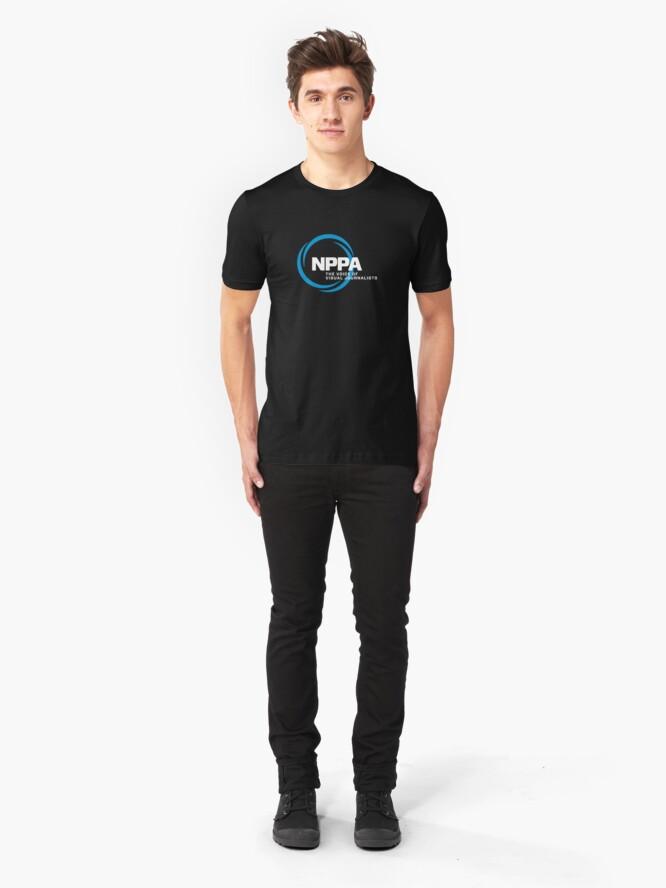 Alternate view of NEW NPPA SHUTTER SWIRL LOGO Slim Fit T-Shirt