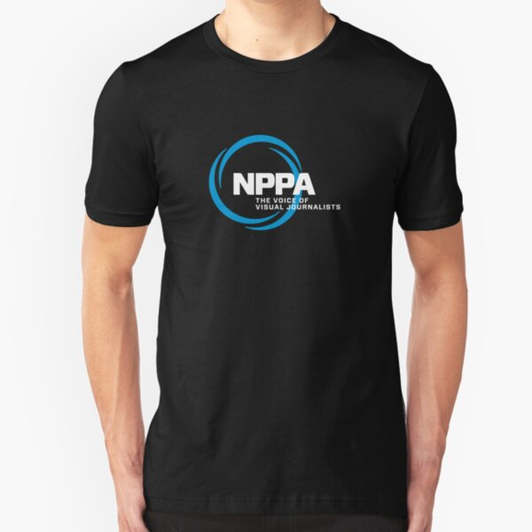NEW NPPA SHUTTER SWIRL LOGO Slim Fit T-Shirt