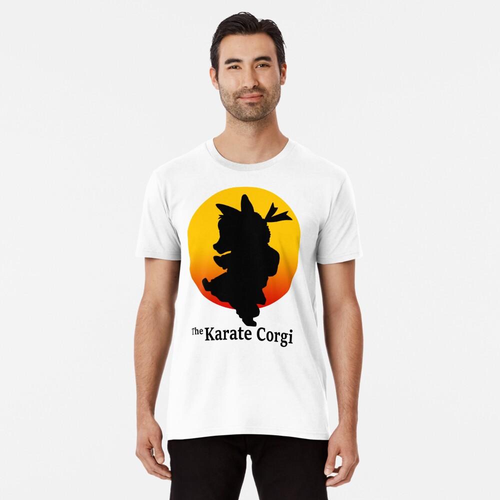 Der Karate Corgi Premium T-Shirt