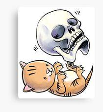 Kitten and Skull Canvas Print