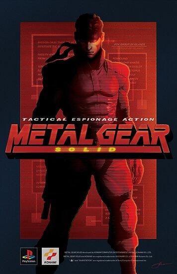 """Metal Gear Solid """"Schlange"""" Poster / Print von Jamieferrato19"""