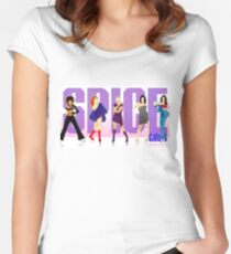 Spice Font Women's Fitted Scoop T-Shirt