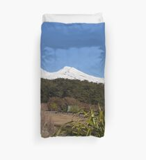 Snow Covered Mountain Duvet Cover