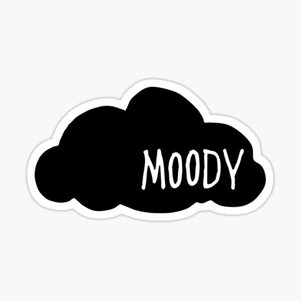 Moody Sticker