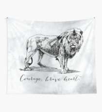 Courage, brave heart - Aslan - Chronicles of Narnia Wall Tapestry