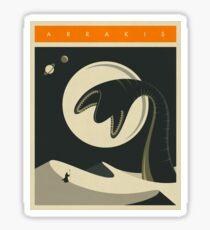 Arrakis Travel Poster Sticker