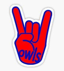 Rock On Owls Sticker