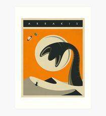 ARRAKIS TRAVEL POSTER Art Print