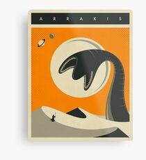 ARRAKIS TRAVEL POSTER Metal Print