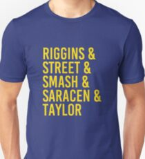 Camiseta unisex Riggins, Street, Smash, Saracen y Taylor