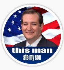 this man ate my son Sticker
