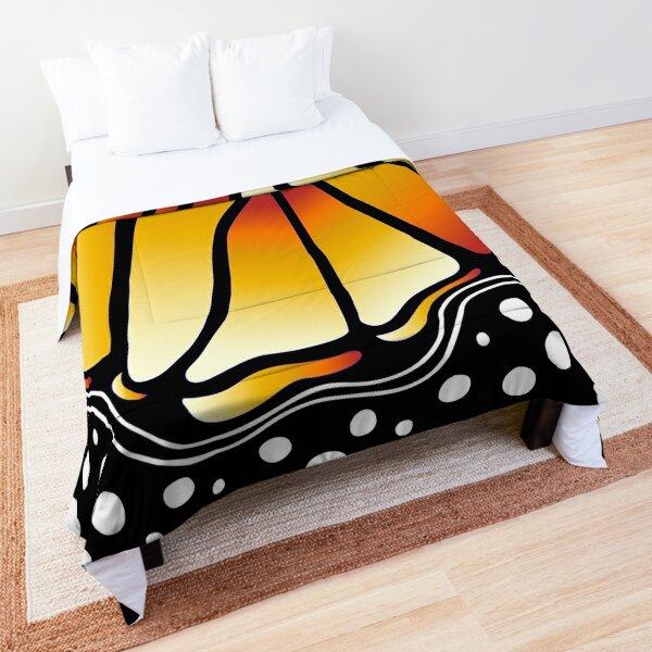 Beautiful Butterfly - Orange Comforter