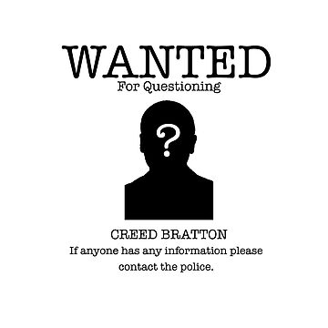 Wanted Creed Bratton (the Office US) by BomTutton