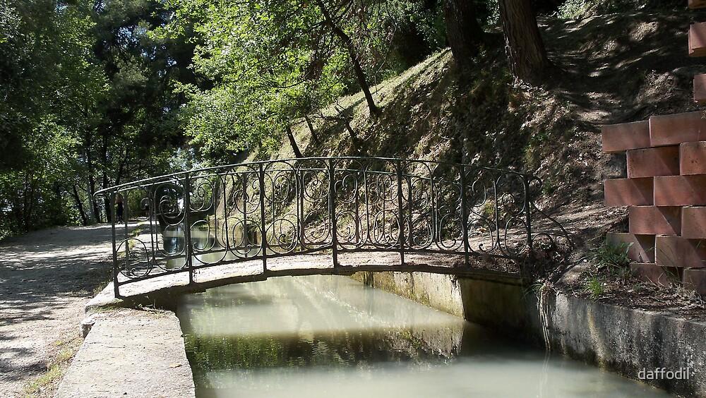 A wrought iron bridge by daffodil