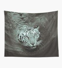 Black And White Tiger Wall Tapestry