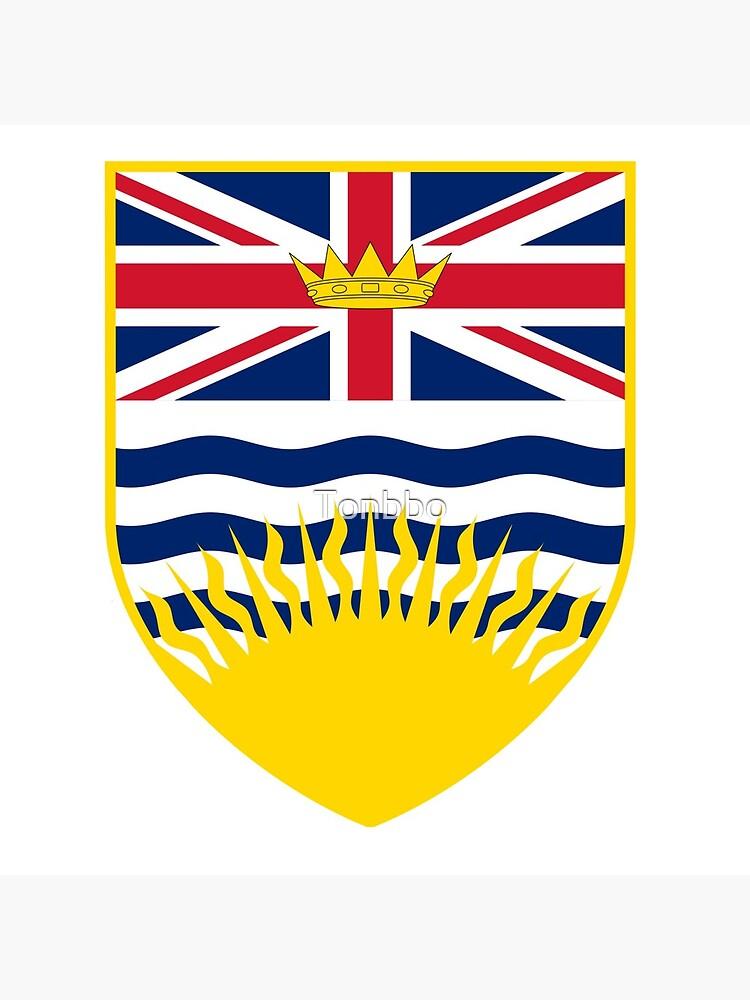 Escudo de armas de la Columbia Británica, Canadá de Tonbbo
