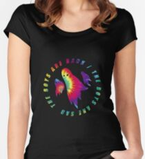 Waterparks | Ghosts (Tie-dye) Women's Fitted Scoop T-Shirt