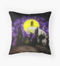 Forever Halloween Nightmare Love Throw Pillow