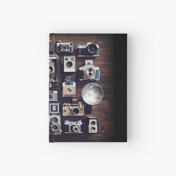 vintage cameras 35mm  Hardcover Journal