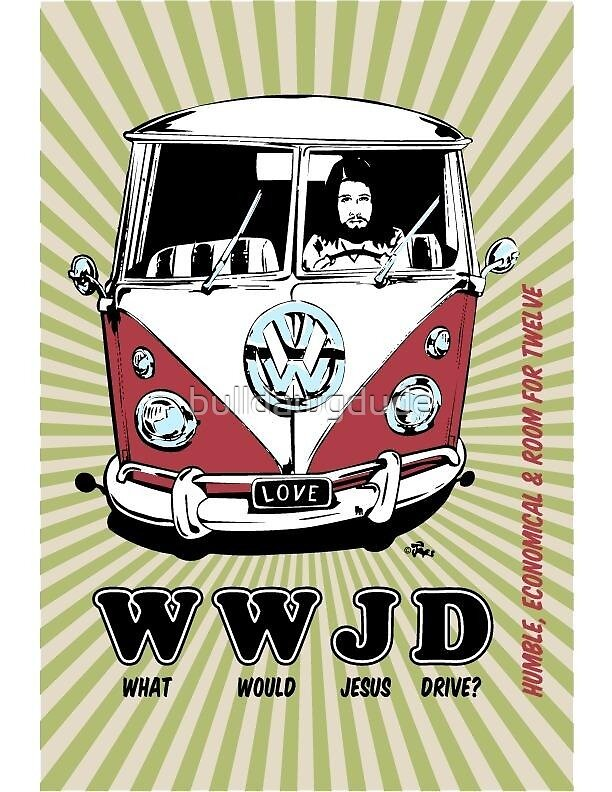 WWJD vintage poster by bulldawgdude