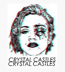 Crystal Castles Shirt Photographic Print