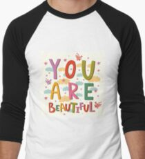 You Are Beautiful Quote Cloud Poster T-Shirt