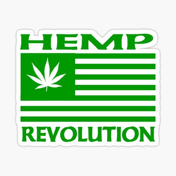 Hemp Revolution Flag  Sticker