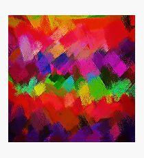 Colorful Paint Splatter Brush Stroke Photographic Print