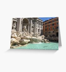 Scultura fontana Greeting Card