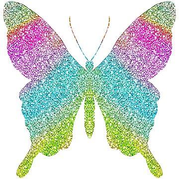 Regenbogen-Funkeln-Schein-Schmetterling von jwyly12