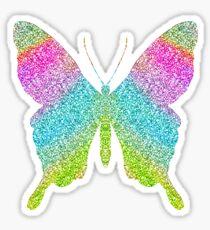 Rainbow Glitter Sparkle Butterfly Sticker