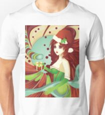 Santa girl in green corset T-Shirt