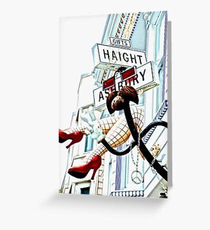 Haight Ashbury in High Key Greeting Card