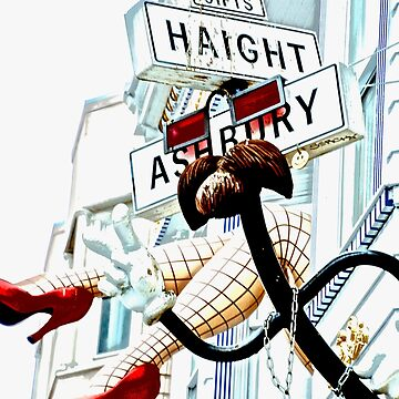 Haight Ashbury in High Key by lenzart