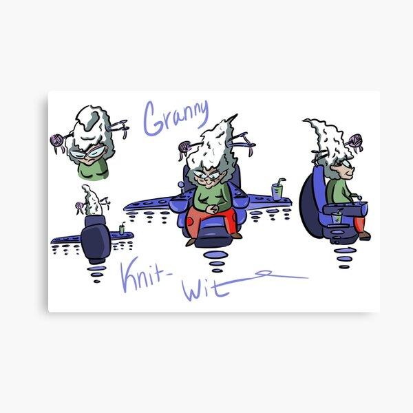 Granny Knit Wit  Canvas Print