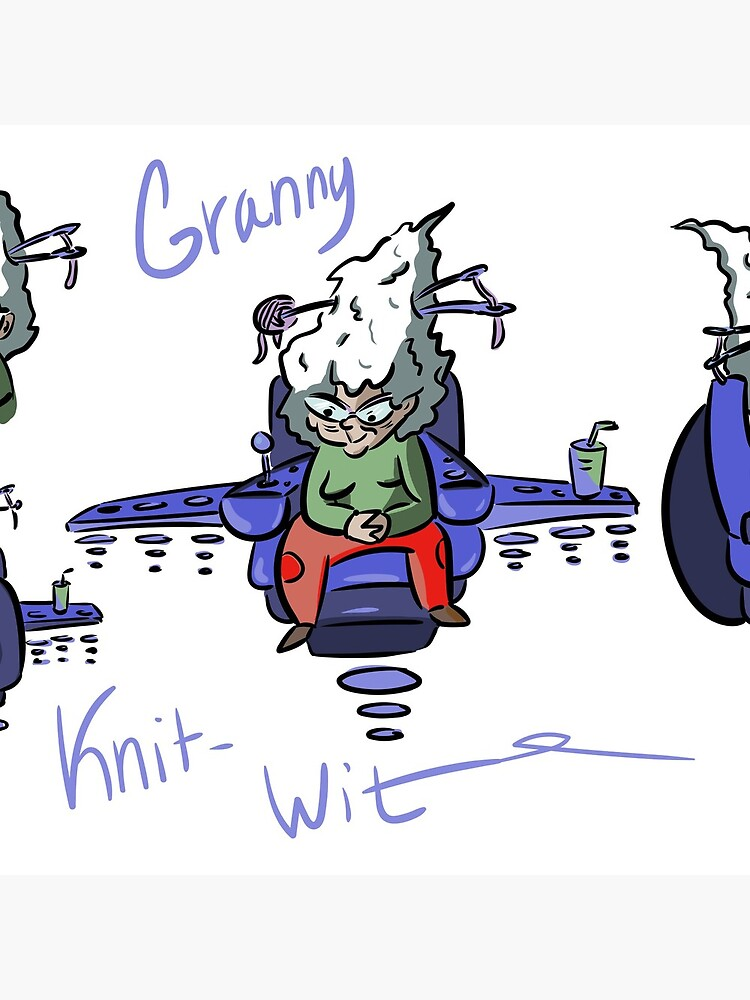 Granny Knit Wit  by SarahJoNettuno