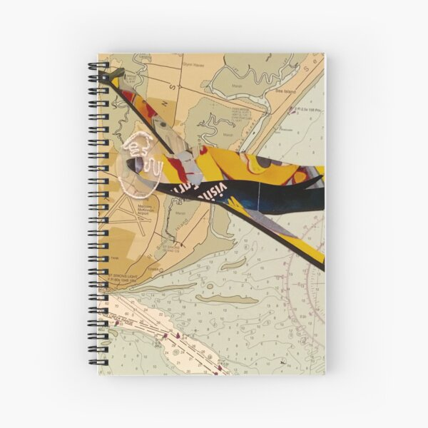 Travel by Map  Spiral Notebook