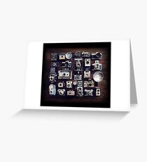 vintage cameras 35mm  Greeting Card