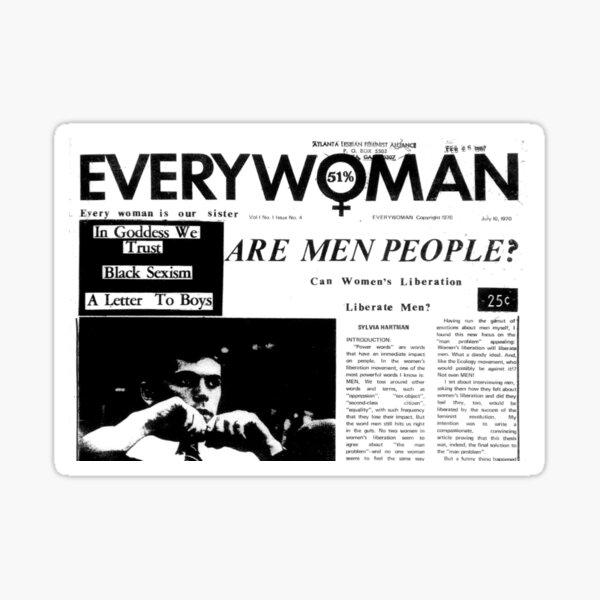 Are Men People (In Goddess We Trust) Sticker