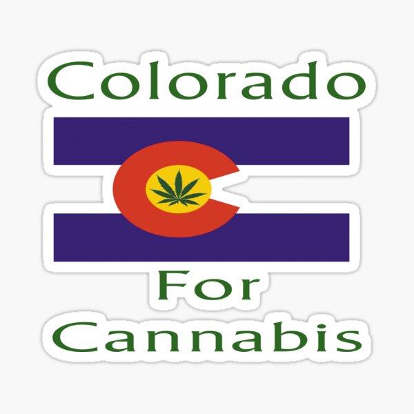 Colorado for Cannabis Colorado Flag Sticker