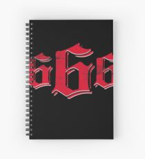 666 The Number of the Beast Spiral Notebook