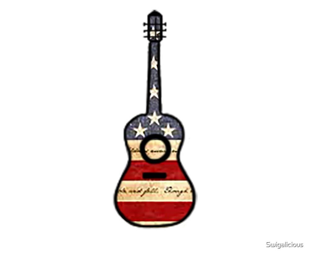 American Flag Guitar  by Swigalicious