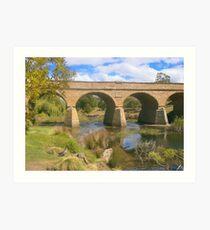 historic bridge at richmond tasmania Art Print
