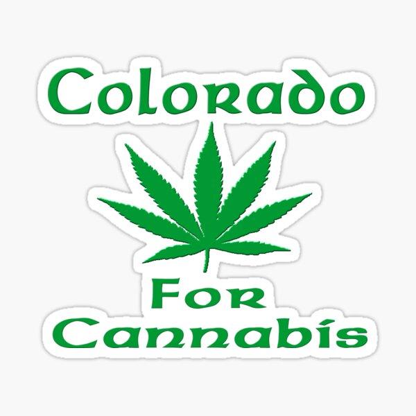 Colorado for Cannabis Hemp Leaf Sticker