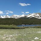 Lake & mountains by MarcVDS